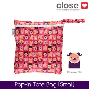 Close Parent Pop-In Small Wetbag Print/ colour Edie Monster