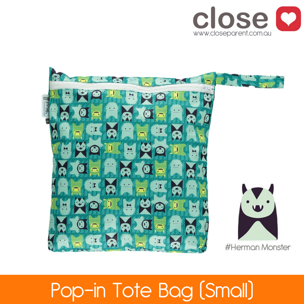 Close Parent Pop-In Small Wetbag Print/ colour Herman Monster