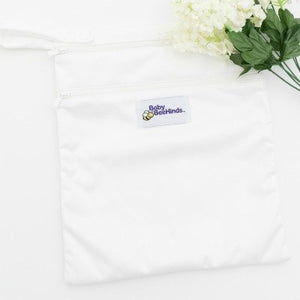 Baby BeeHinds Double Pocket Wetbag Print White