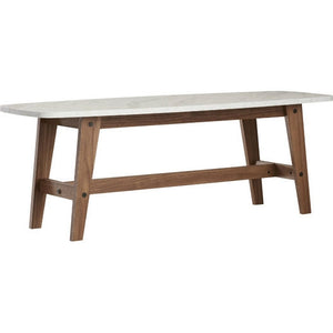 Modern Wood Coffee Table with Faux Marble Top