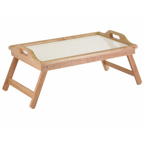 Breakfast in Bed Tray Table with Handles and Foldable Legs