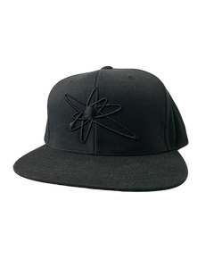 Black Embroidered Astrolux Snapback