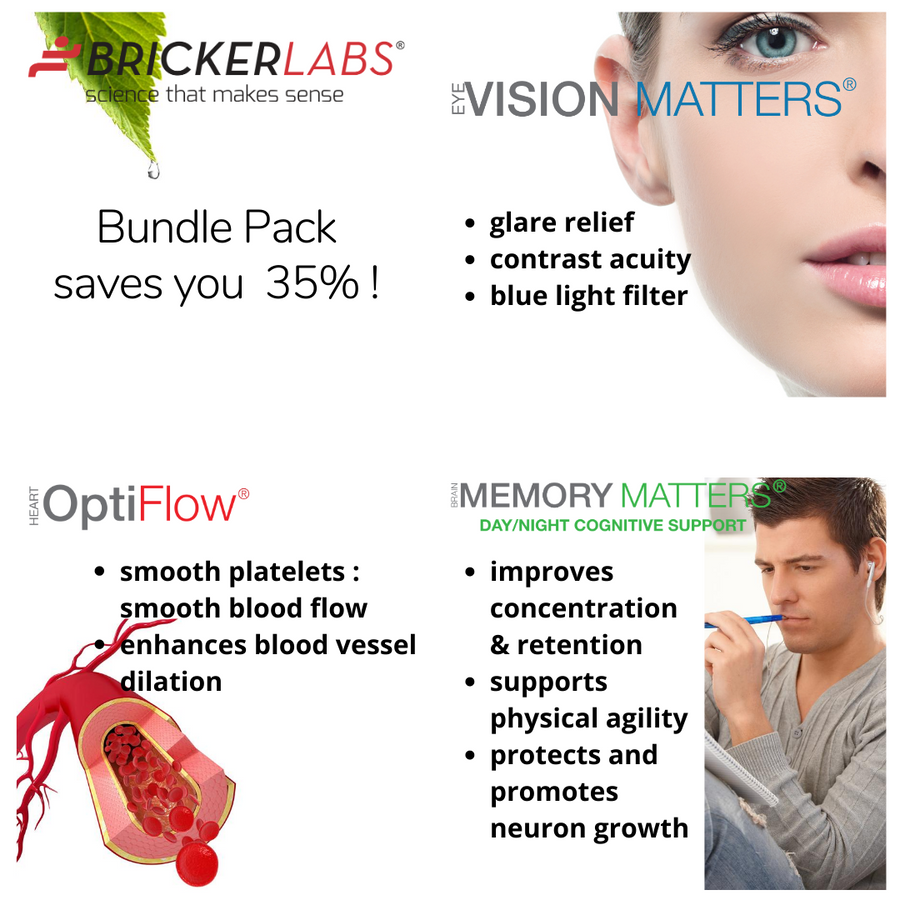 Mighty 3 │ Brain, Cardiovascular and Eye Health Support │35% Total Savings…
