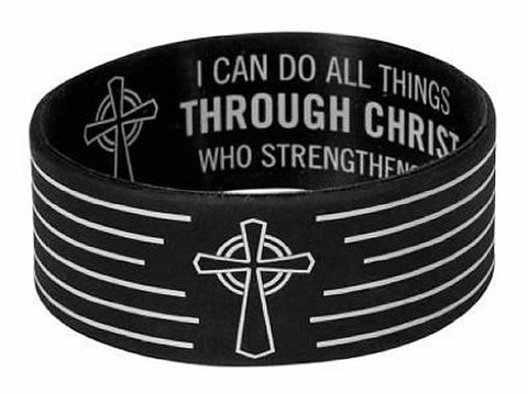 I Can Do All Things Through Him Wristband