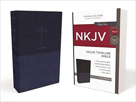 NKJV Navy Value Thinline
