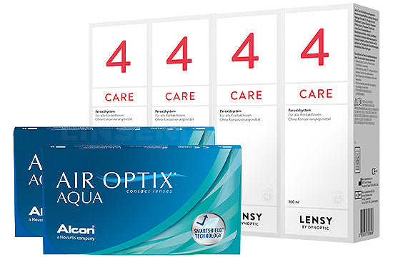 Air Optix Aqua & Lensy Care 4, Halbjahres-Sparpaket