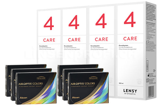Air Optix Colors & Lensy Care 4, Halbjahres-Sparpaket