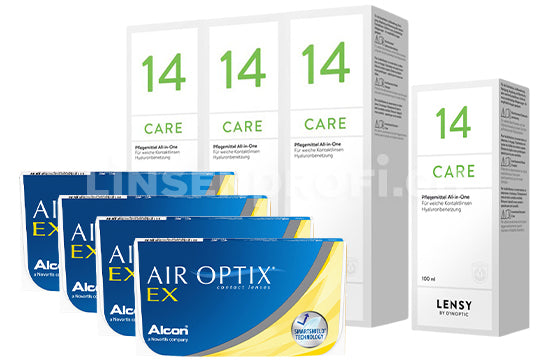 Air Optix EX & Lensy Care 14, Halbjahres-Sparpaket