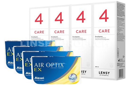 Air Optix EX & Lensy Care 4, Halbjahres-Sparpaket
