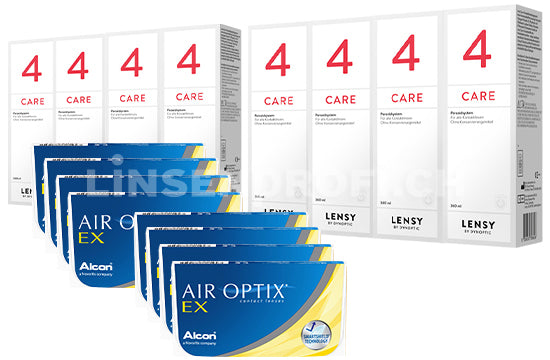 Air Optix EX & Lensy Care 4, Jahres-Sparpaket