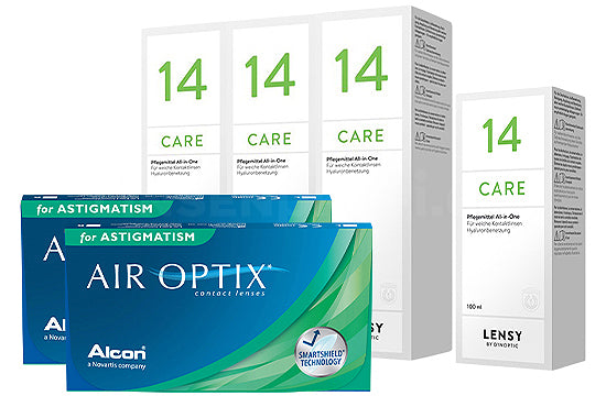 Air Optix for Astigmatism & Lensy Care 14, Halbjahres-Sparpaket