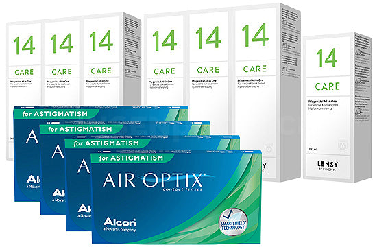 Air Optix for Astigmatism & Lensy Care 14, Jahres-Sparpaket