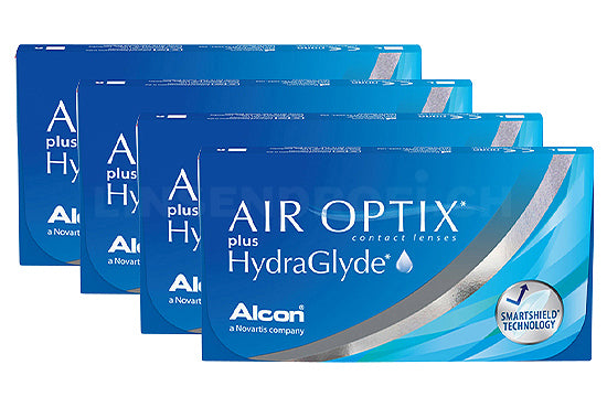 Air Optix plus HydraGlyde (4x6 Stück), SPARPAKET 12 Monate