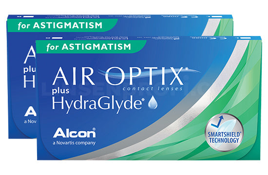Air Optix plus HydraGlyde for Astigmatism (2x6 Stück) SPARPAKET 6 Monate