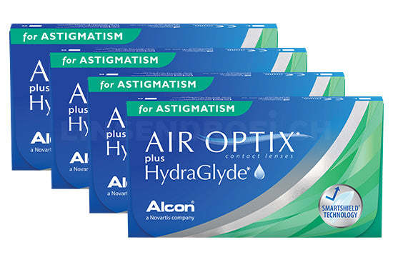 Air Optix plus HydraGlyde for Astigmatism (4x6 Stück), SPARPAKET 12 Monate