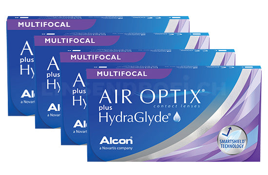 Air Optix plus HydraGlyde Multifocal (4x6 Stück), SPARPAKET 12 Monate
