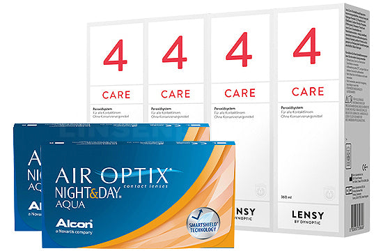 Air Optix Night&Day Aqua & Lensy Care 4, Halbjahres-Sparpaket