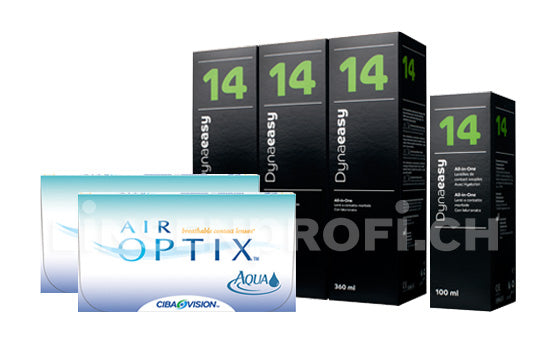 Air Optix Aqua & Lensy Care 14, Halbjahres-Sparpaket