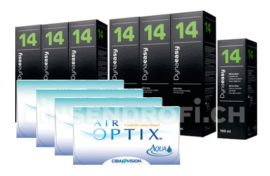 Air Optix Aqua & Lensy Care 14, Jahres-Sparpaket