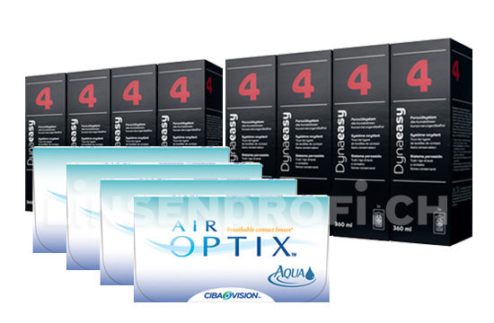 Air Optix Aqua & Lensy Care 4, Jahres-Sparpaket