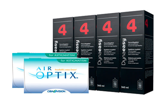 Air Optix for Astigmatism & Lensy Care 4, Halbjahres-Sparpaket