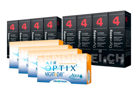 Air Optix Night&Day Aqua & Lensy Care 4, Jahres-Sparpaket