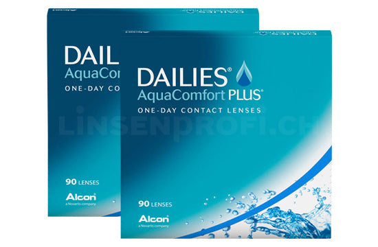Dailies AquaComfort Plus (2x90 Stück), SPARPAKET 3 Monate