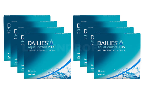 Dailies AquaComfort Plus (2x360 Stück), SPARPAKET 12 Monate