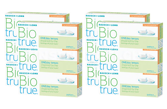 Biotrue ONEday for Astigmatism (2x180 Stück), SPARPAKET 6 Monate