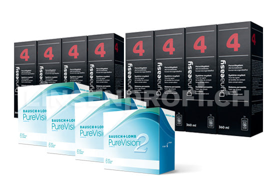 PureVision 2 HD & Lensy Care 4, Jahres-Sparpaket