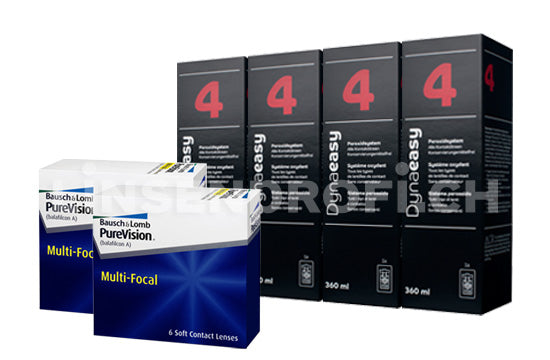 PureVision Multi-Focal & Lensy Care 4, Halbjahres-Sparpaket