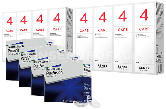 PureVision & Lensy Care 4, Jahres-Sparpaket