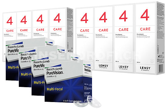 PureVision Multi-Focal & Lensy Care 4, Jahres-Sparpaket