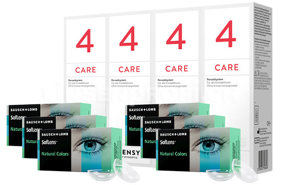 SofLens Natural Colors & Lensy Care 4, Halbjahres-Sparpaket