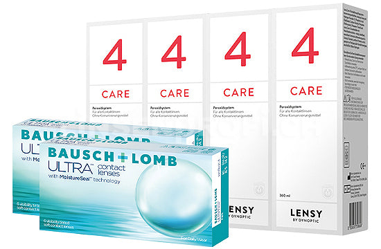 Bausch + Lomb ULTRA & Lensy Care 4, Halbjahres-Sparpaket