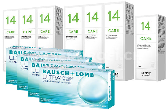 Bausch + Lomb ULTRA & Lensy Care 14, Jahres-Sparpaket