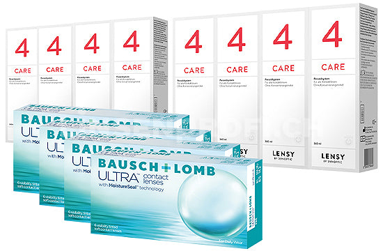 Bausch + Lomb ULTRA & Lensy Care 4, Jahres-Sparpaket