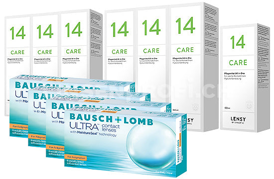 Bausch + Lomb ULTRA for Astigmatism & Lensy Care 14, Jahres-Sparpaket