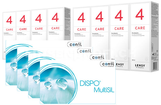 Dispo MultiSiL & Lensy Care 4, Jahres-Sparpaket