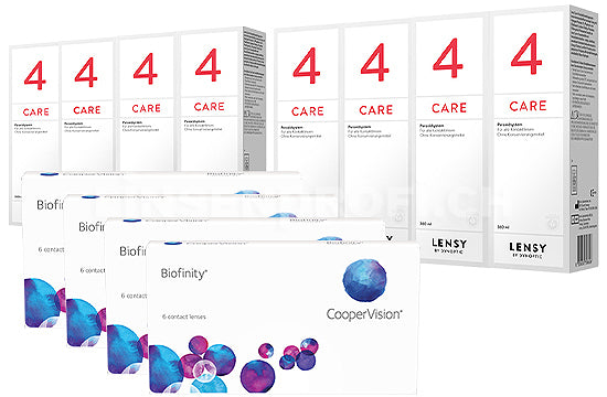 Biofinity & Lensy Care 4, Jahres-Sparpaket