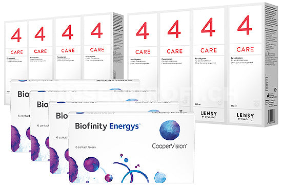 Biofinity Energys & Lensy Care 4, Jahres-Sparpaket