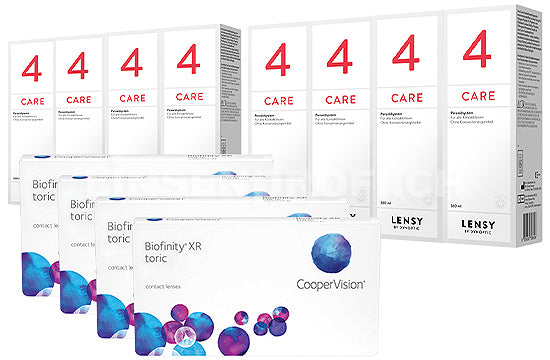 Biofinity XR Toric & Lensy Care 4, Jahres-Sparpaket