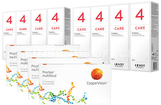 Proclear Multifocal & Lensy Care 4, Jahres-Sparpaket