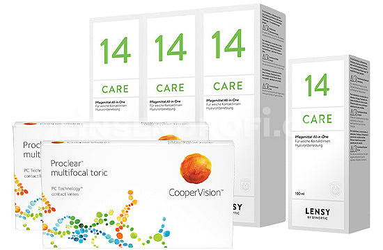 Proclear Multifocal Toric & Lensy Care 14, Halbjahres-Sparpaket