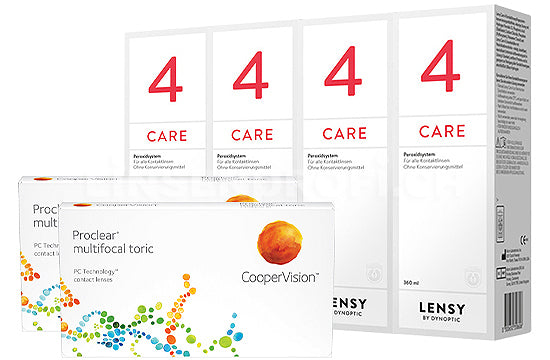 Proclear Multifocal Toric & Lensy Care 4, Halbjahres-Sparpaket