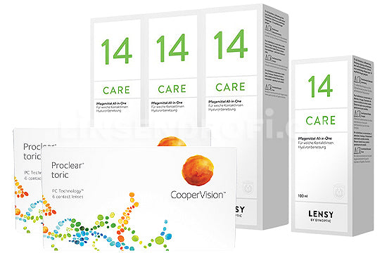 Proclear Toric & Lensy Care 14, Halbjahres-Sparpaket