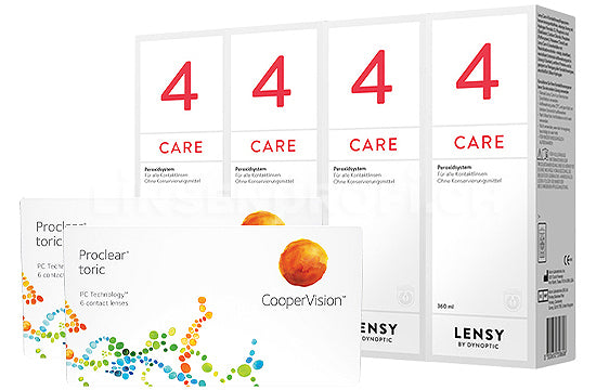 Proclear Toric & Lensy Care 4, Halbjahres-Sparpaket