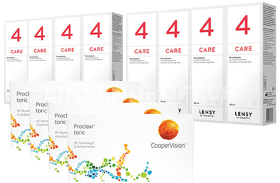Proclear Toric & Lensy Care 4, Jahres-Sparpaket