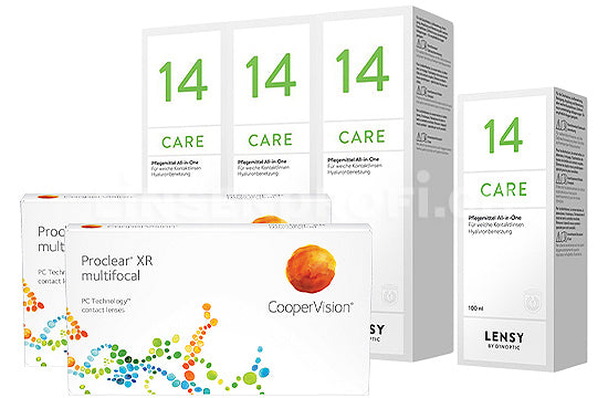 Proclear Multifocal XR & Lensy Care 14, Halbjahres-Sparpaket