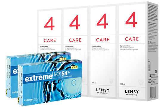 Extreme H2O 54% & Lensy Care 4, Halbjahres-Sparpaket